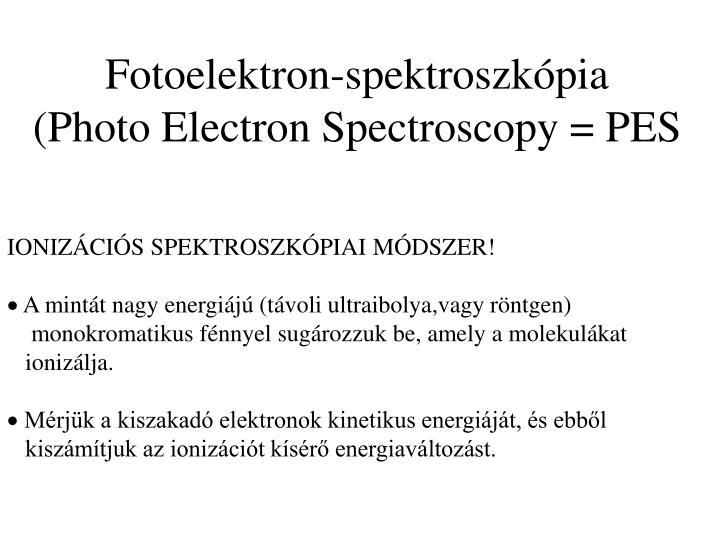 Fotoelektron-spektroszkópia