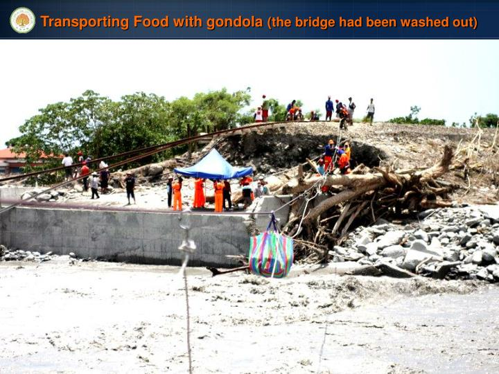 Transporting Food with gondola
