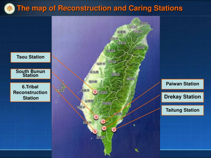 The map of Reconstruction and Caring Stations
