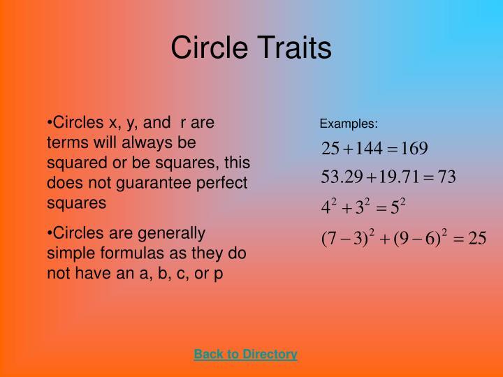 Circle Traits