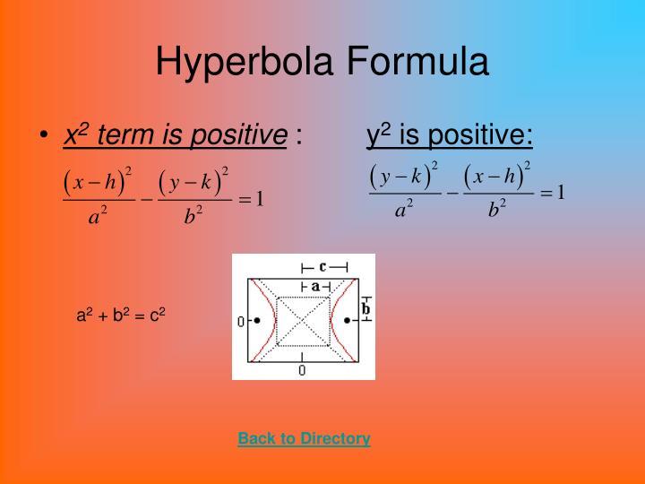 Hyperbola Formula