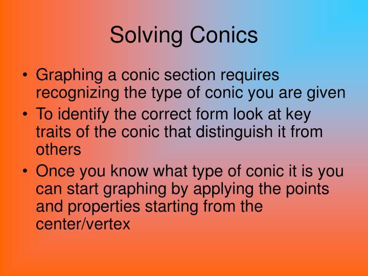Solving Conics
