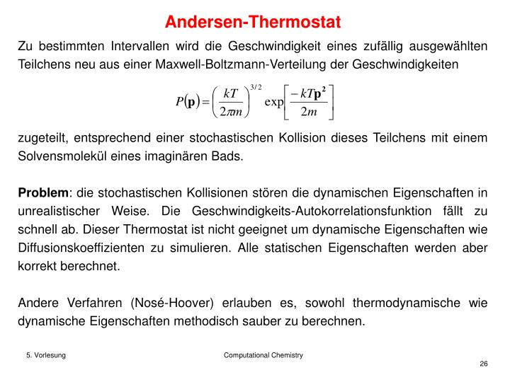 Andersen-Thermostat