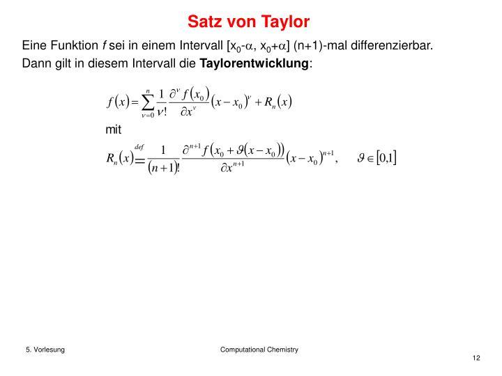 Satz von Taylor