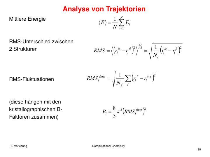 Analyse von Trajektorien