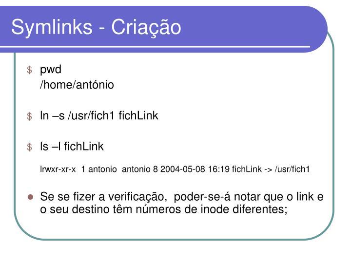 Symlinks - Criação