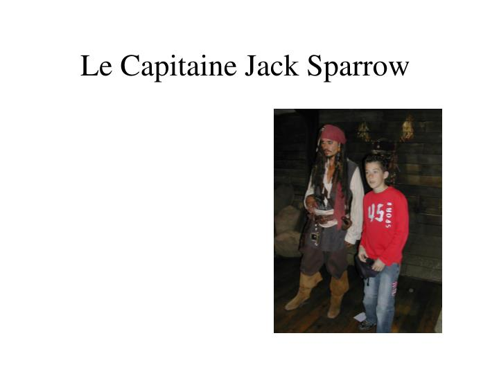 Le Capitaine Jack Sparrow