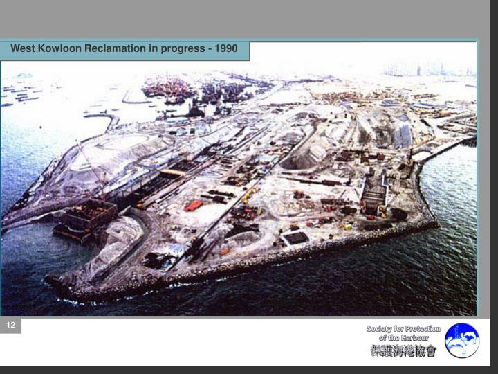 West Kowloon Reclamation in progress - 1990