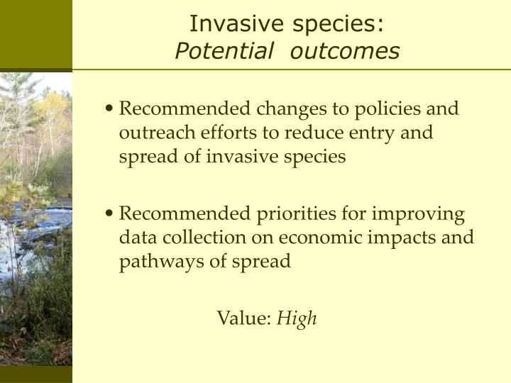 Invasive species: