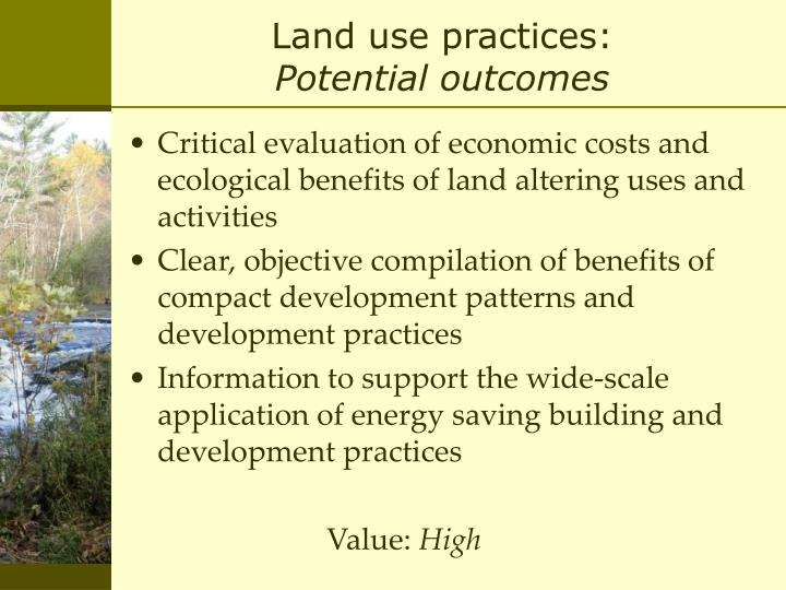 Land use practices: