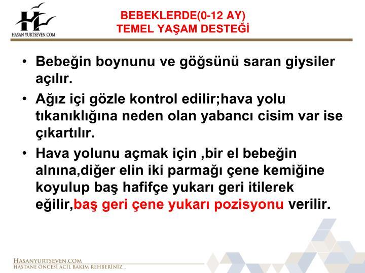 BEBEKLERDE(0-12 AY)