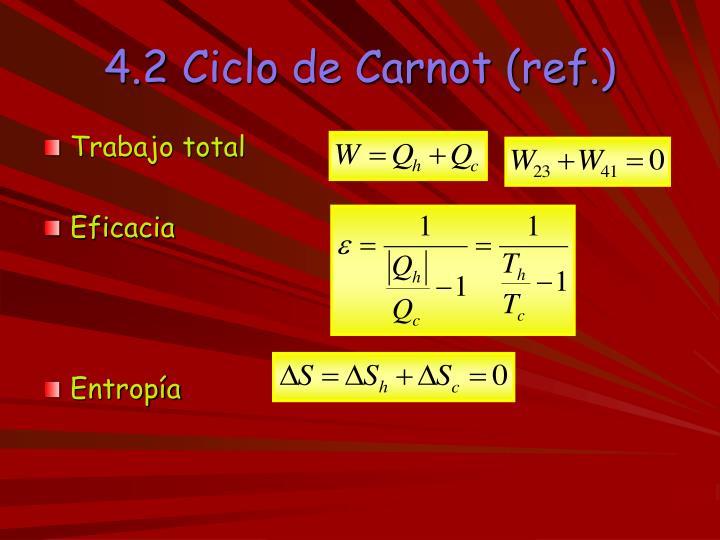 4.2 Ciclo de Carnot (ref.)