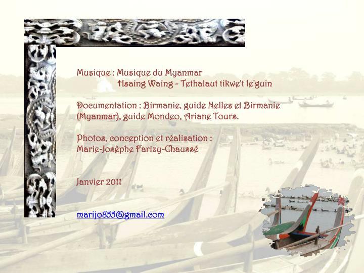 Musique : Musique du Myanmar