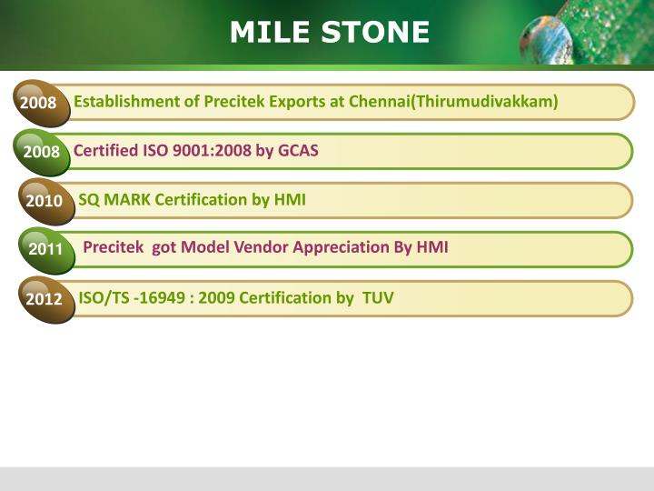 SQ MARK Certification by HMI