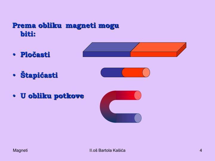 Prema obliku