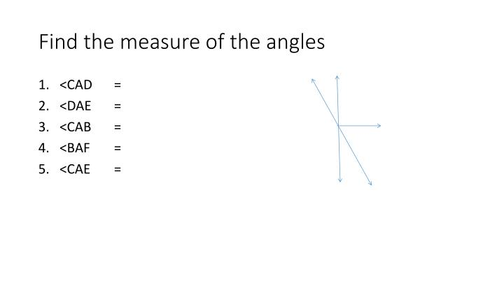 Find the measure of the angles