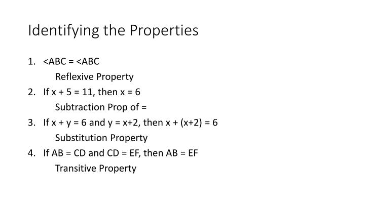 Identifying the Properties