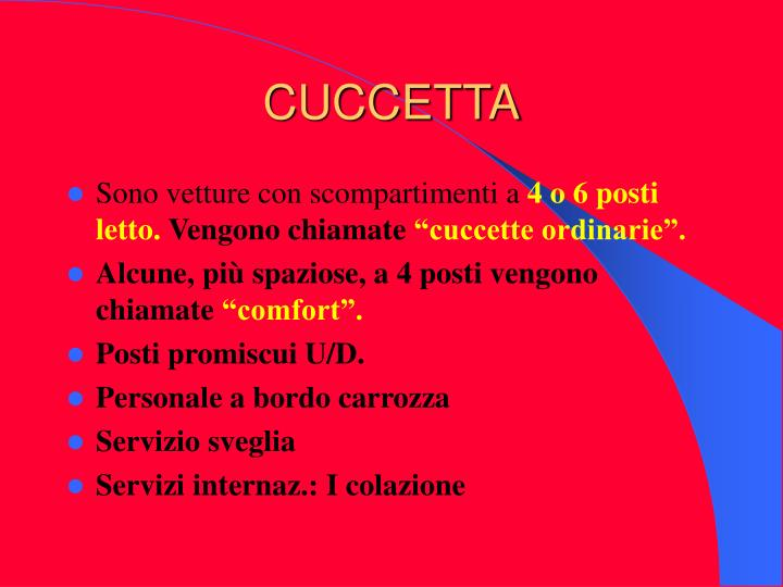 CUCCETTA