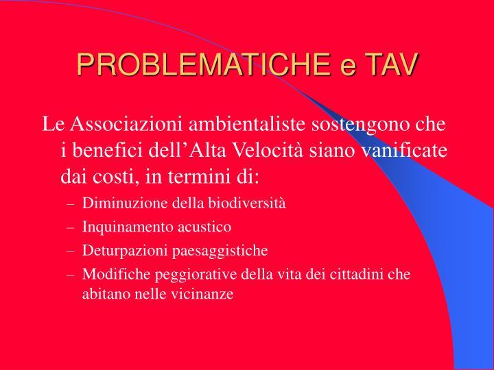 PROBLEMATICHE e TAV