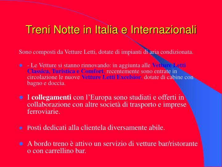 Treni Notte in Italia e Internazionali