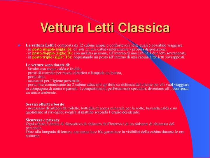 Vettura Letti Classica