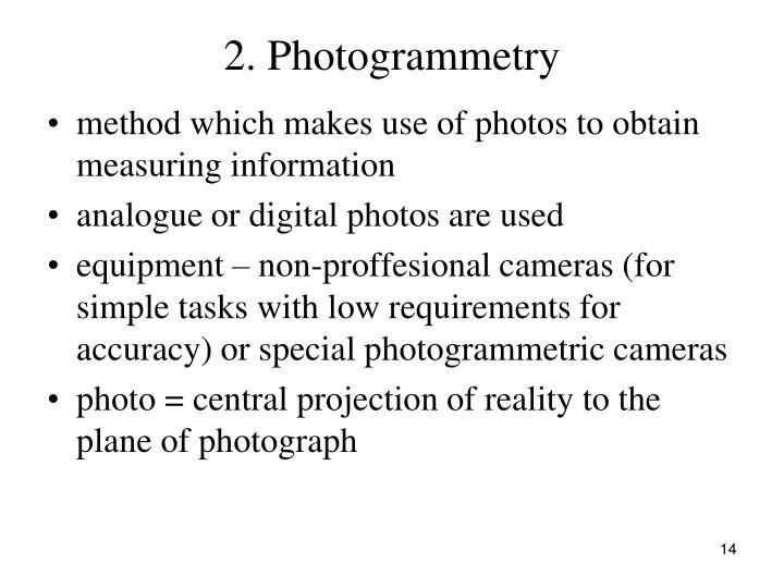 2. Photogrammetry
