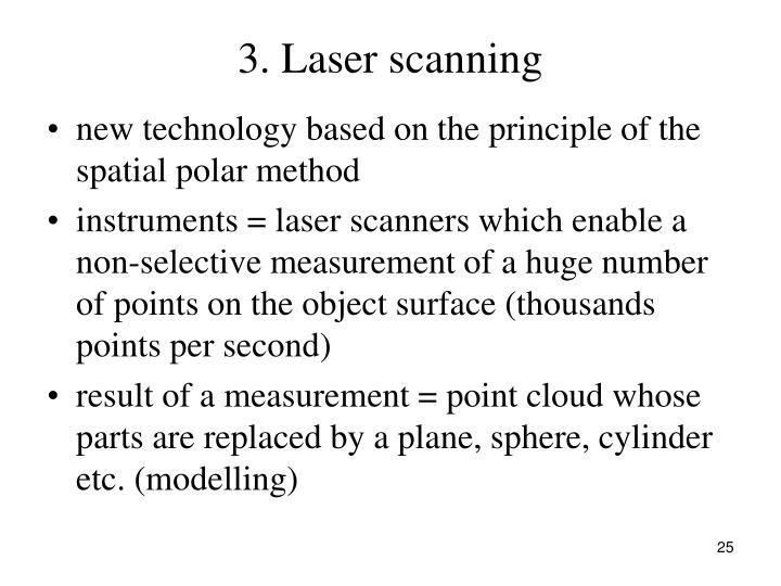 3. Laser scanning