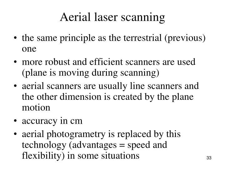 Aerial laser scanning