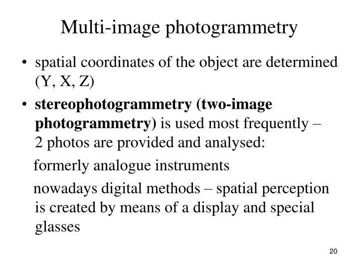 Multi-image photogrammetry