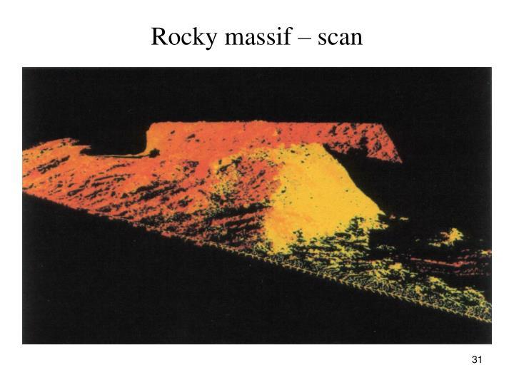 Rocky massif – scan