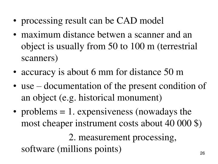 processing result can be CAD model