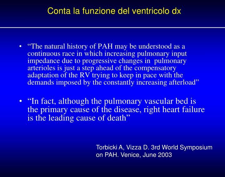 Conta la funzione del ventricolo dx