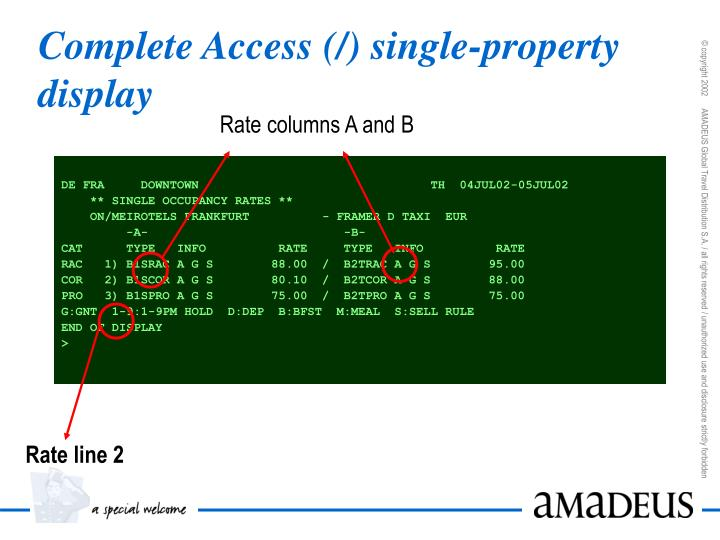 Complete Access (/) single-property display