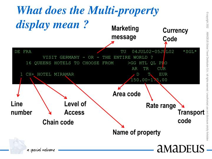 What does the Multi-property display mean ?