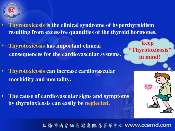 Thyrotoxicosis