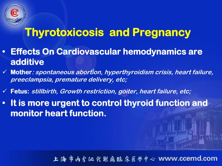 Thyrotoxicosis  and Pregnancy