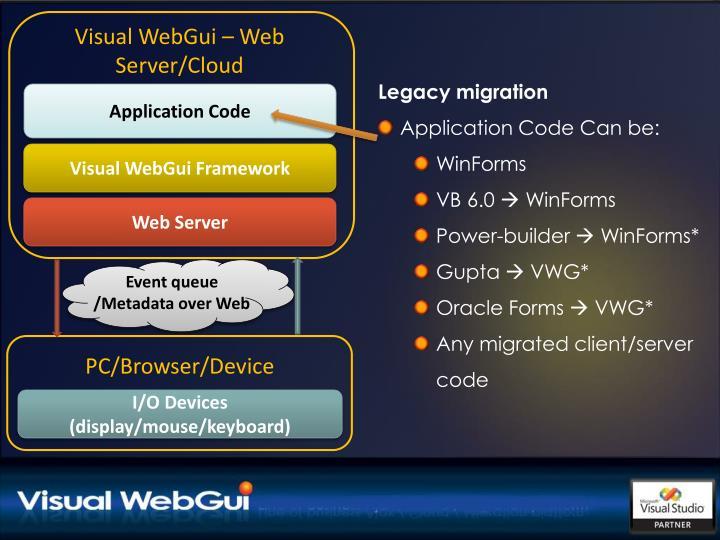 Visual WebGui – Web Server/Cloud