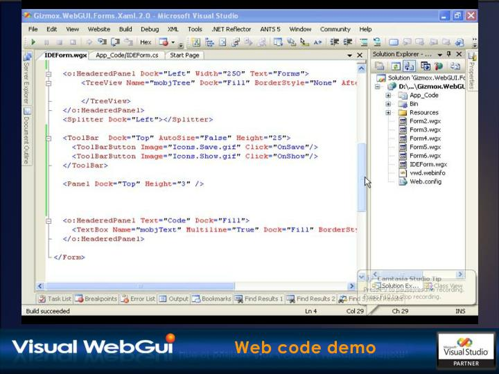 Web code demo
