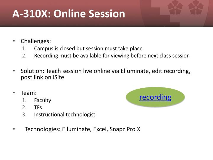 A-310X: Online Session
