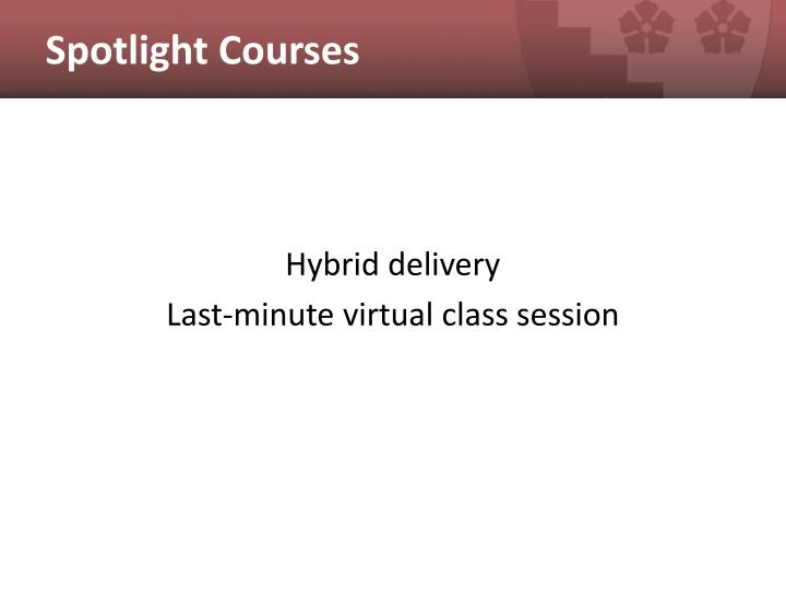Spotlight Courses