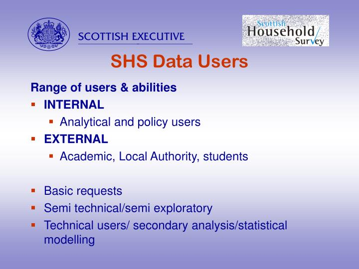 Shs data users