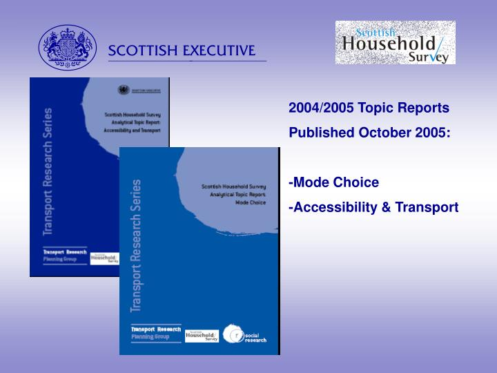 2004/2005 Topic Reports