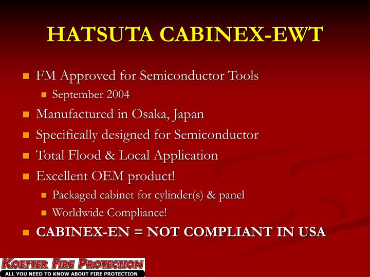 HATSUTA CABINEX-EWT