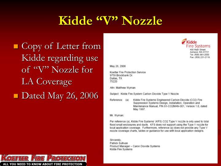 "Kidde ""V"" Nozzle"