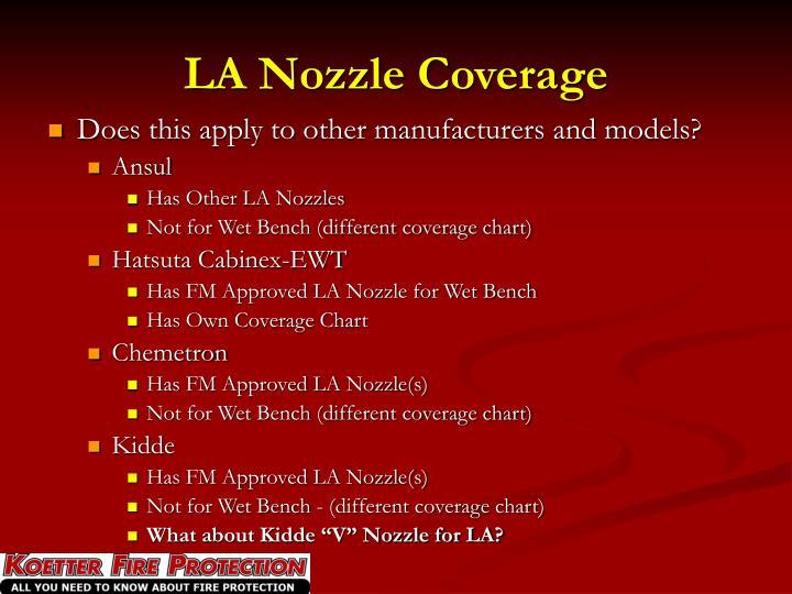 LA Nozzle Coverage