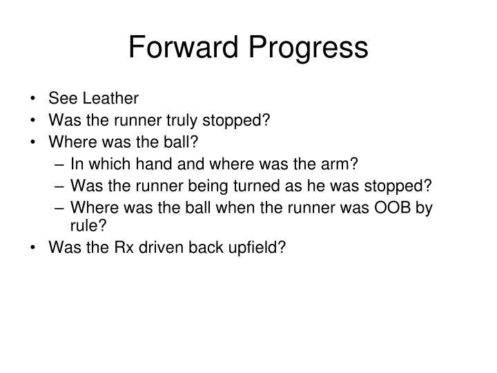 Forward Progress