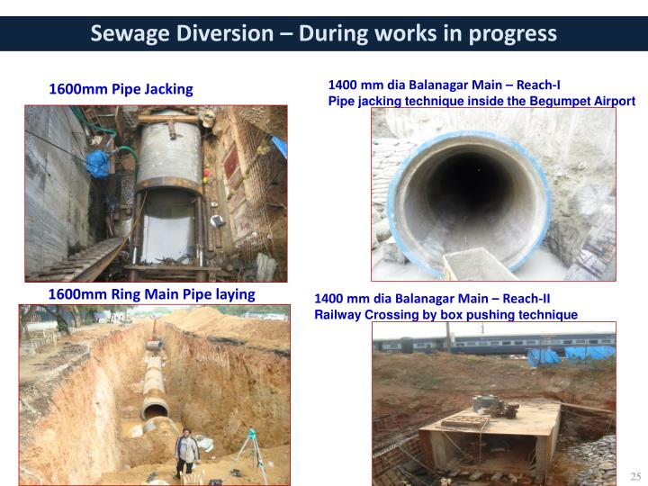 Sewage Diversion – During works in progress