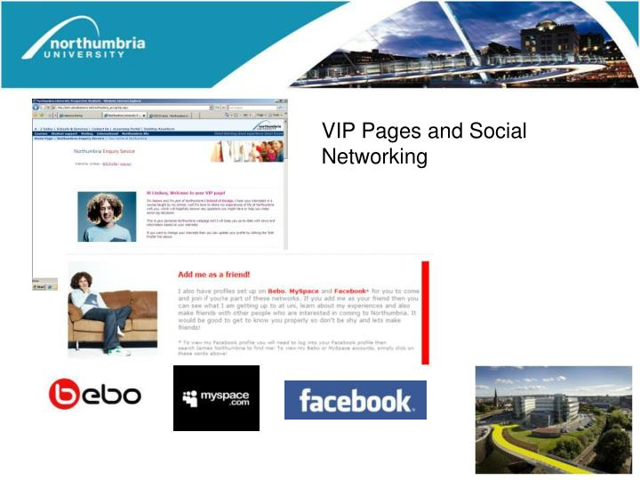 VIP Pages and Social Networking