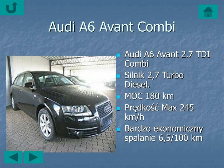 AudiA6 Avant 2.7 TDI Combi