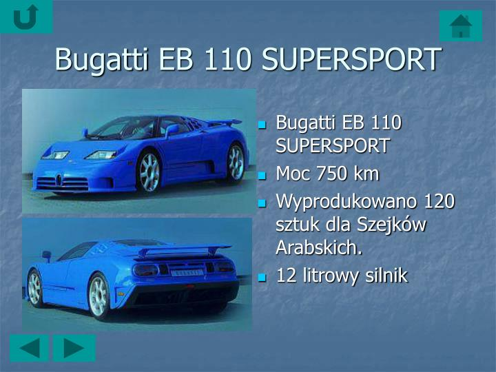 Bugatti EB 110 SUPERSPORT